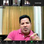 सहकारिता मंत्री की अध्यक्षता में जूम ऐप पर सम्पन्न हुई प्रदेश में गेहूँ भण्डारण की समीक्षा बैठक